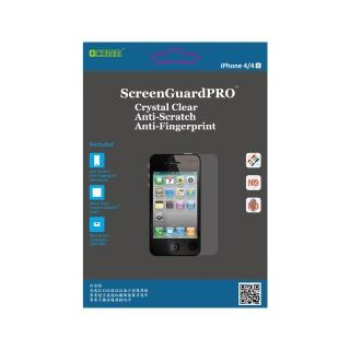 【GCOMM】iPhone4S清透抗括抗指紋油污保護膜 附超音波抗靜電清潔布(ScreenGuardPRO)