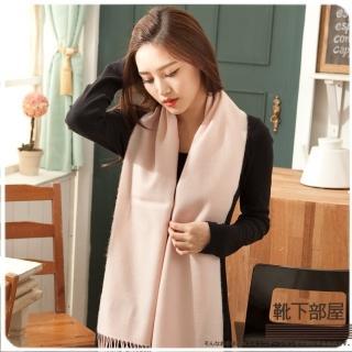 【靴下部屋】法式歐夏蕾˙純色圍巾(嬰兒嫩粉)