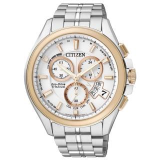 【CITIZEN 】王牌紳士光動能太金屬腕錶(玫瑰金白 BY0054-57A)