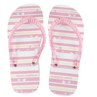 【iSFun】粉紅橫條*珍珠海灘鞋