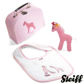 【STEIFF德國金耳釦泰迪熊】Circus Giraffe Gift(嬰幼兒行李箱)