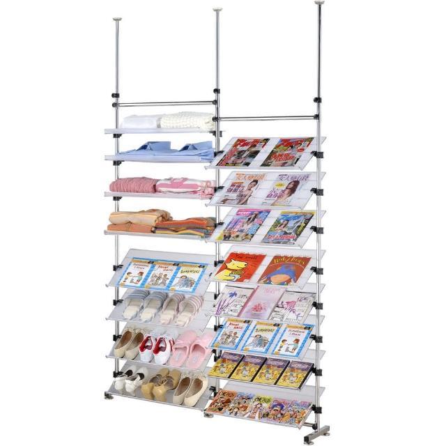 【巴塞隆納】88型多角度旋轉式雜誌書架鞋架層架