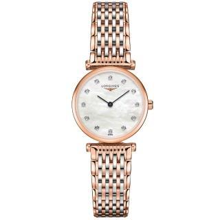 【LONGINES】嘉嵐系列璀燦真鑽腕錶(L42091977)