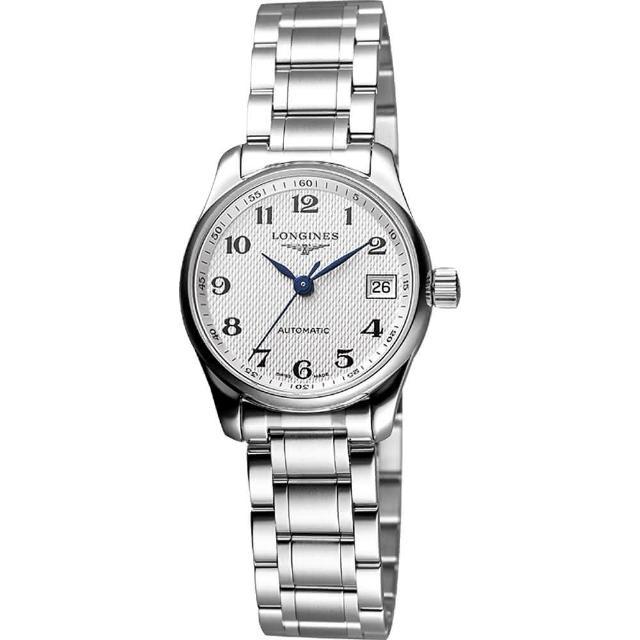 【LONGINES】Master 大三針日期機械女錶(L21284786)
