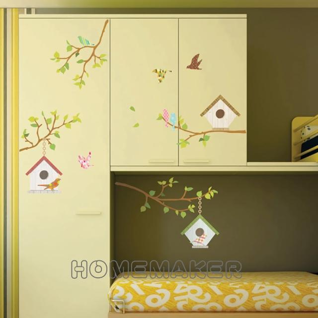 【FIXPIX】彩繪鳥巢與樹屋-創意造型壁貼(HPS-60032)