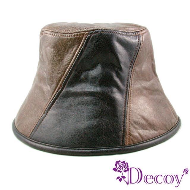 【Decoy】酷帥摩登*雙色皮革帽/M限量出售