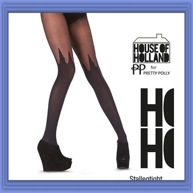 【摩達客】英國進口 House of Holland 時尚火焰造型彈性褲襪