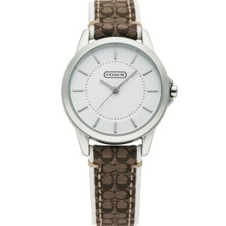 【COACH】優雅簡約經典LOGO皮帶腕錶-31mm(14501526)