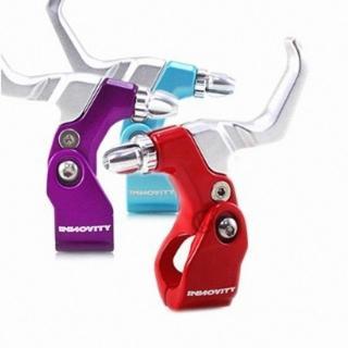 【INNOVITY】高光澤彩色烤漆 鋁合金 台灣製 自行車 C夾 煞車握把 一對(管徑22.2mm)