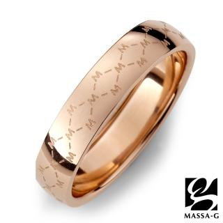 【MASSA-G】DECO系列 M. Class M04 經典 純鈦戒指-玫瑰金