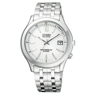 【CITIZEN】詮釋自我光動能電波腕錶(銀白 FRD59-2392)