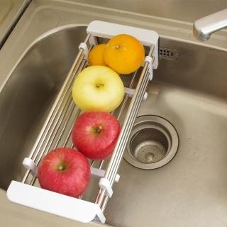 不鏽鋼多功能可調式伸縮瀝水籃
