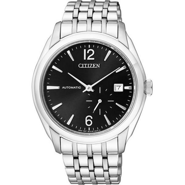 【CITIZEN】NP系列 卓越工藝都會機械腕錶(鋼帶-銀黑 NJ0060-57E)