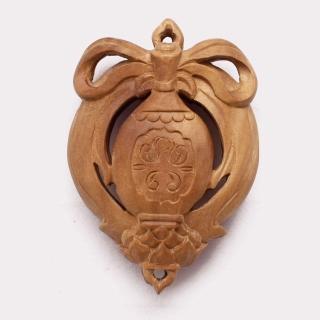 【荒木雕塑藝品】檀香寶瓶守護香盒