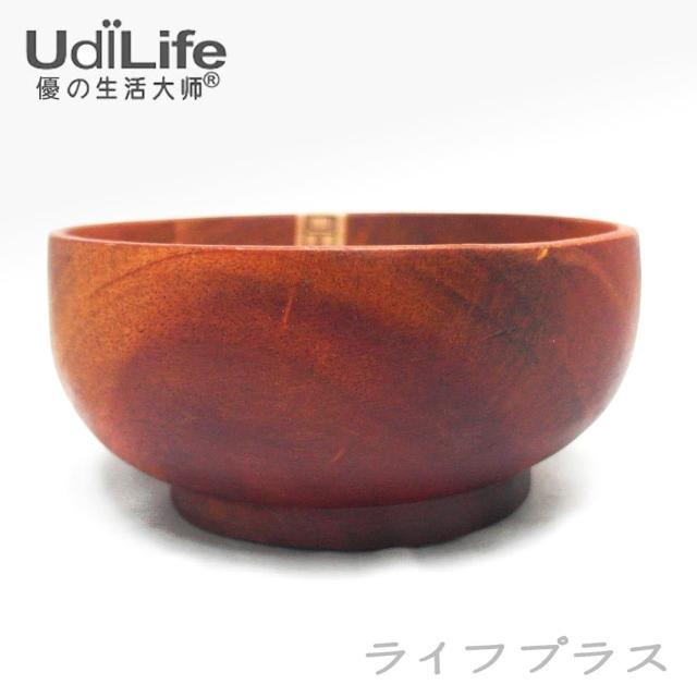 【UdiLife】品木屋。原木飯碗-中-4入組