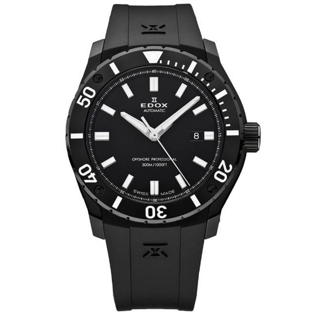 【EDOX】Professional Class offshor機械腕錶-黑(E80088.37N.NIN)