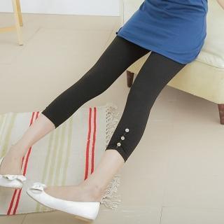 【衣心衣意中大尺碼】輕鬆舒適-好搭四面彈力釦子內搭褲(黑SC2A3027)