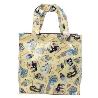 【Reiko Aoki】青木禮子 Dogs-custom彩繪防水小型手提袋(淺黃色)