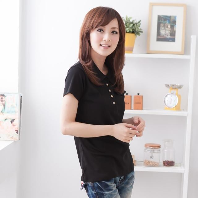 【衣心衣意中大尺碼】造涼感系列 -釦子口袋蓋polo衫(黑-桃-藍SB4A1230)