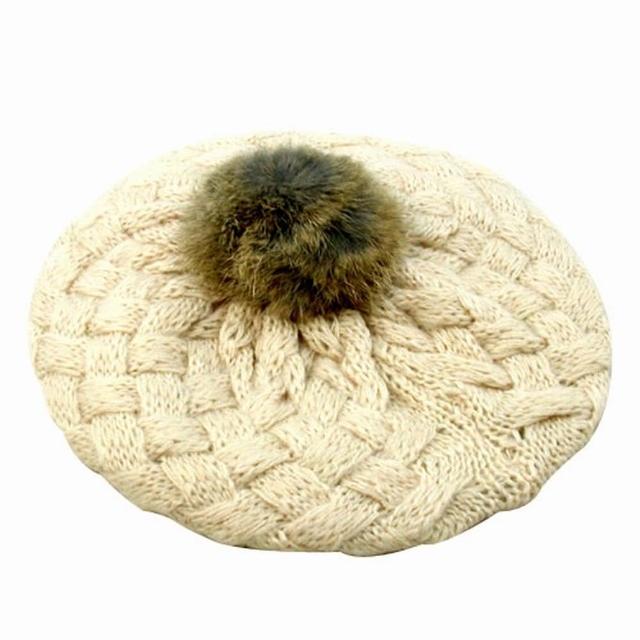 【iSFun】鬆軟棉織*兒童貝蕾帽/米