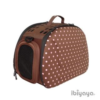 【IBIYAYA依比呀呀】EVA輕巧摺疊寵物提包-咖啡點點(FC1007)