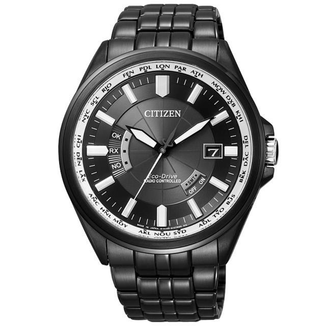 【CITIZEN】超越極限光動能電波錶(鋼帶-全黑 CB0014-52E)
