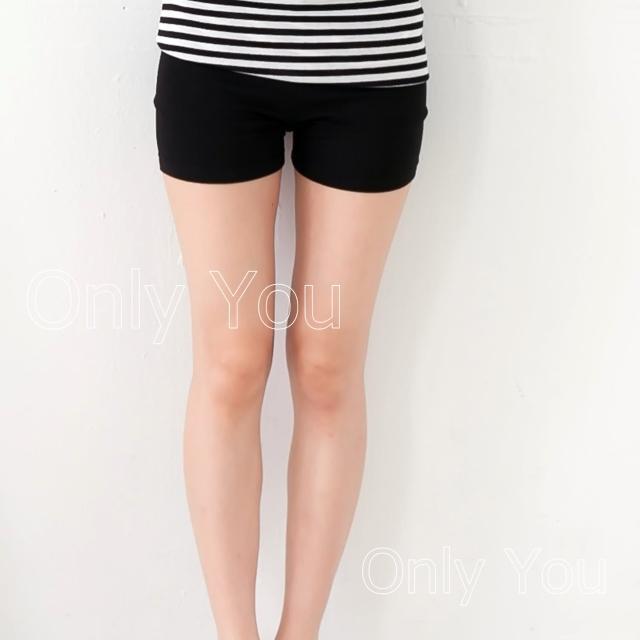 【衣心衣意中大尺碼】好穿舒適-四面彈力安全褲(黑SH2A3066)