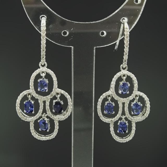 【Celosa珠寶-】奢華藍寶耳環