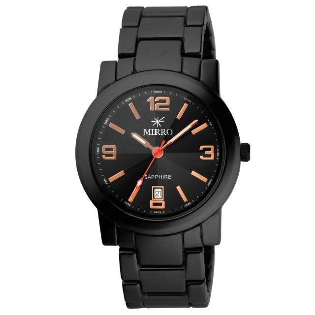 【MIRRO】愛戀風潮時尚都會陶瓷腕錶(黑玫瑰金 6919G-4515-BRG)