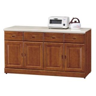 【顛覆設計】道格5.3尺樟木色石面餐櫃下座