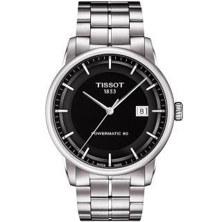 【TISSOT】T-Classic Luxury 機械腕錶-黑/銀(T0864071105100)