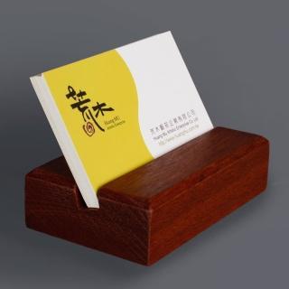 【荒木雕塑藝品】極簡風原木名片架(花梨木實木製作)