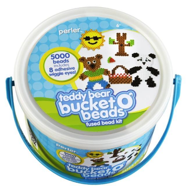 【Perler 拼拼豆豆】泰迪熊野餐去 5000 顆拼豆組合桶