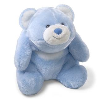 【美國GUND泰迪熊】史娜菲看電視泰迪熊(粉藍/M)