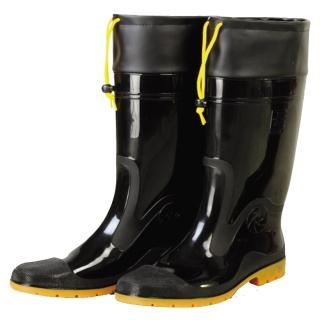 【達新牌】豪帥 專業加束口防滑防水雨鞋(黑色)