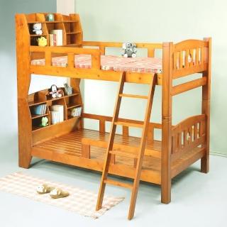 《BuyJM》歐貝3.5呎書架型實木雙層床