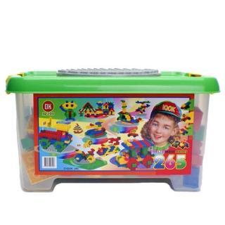 【OK積木】收納箱265片裝(大顆粒)