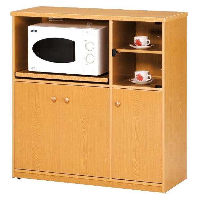 【顛覆設計】潮濕剋星-防水塑鋼3.3尺碗碟櫃/電器櫃(四色可選)