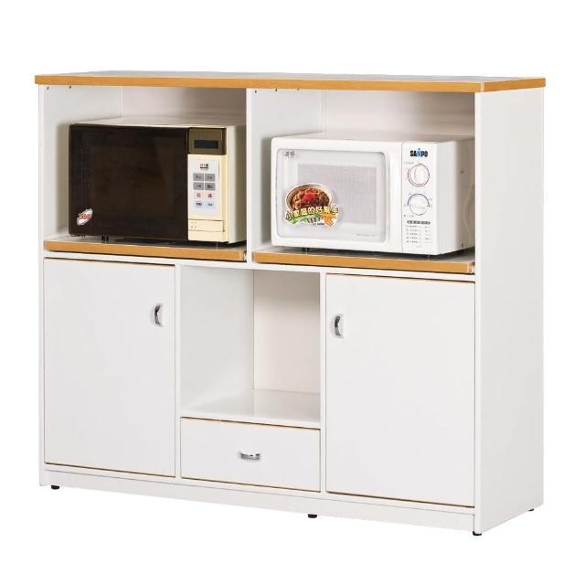 【顛覆設計】潮濕剋星-防水塑鋼4.2尺碗碟櫃/收納櫃(四色可選)