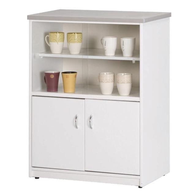 【顛覆設計】潮濕剋星-防水塑鋼2.2尺碗碟櫃/收納櫃(四色可選)
