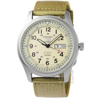 【SEIKO】精工第三代軍用野戰機械帆布錶-卡其(SNZG07J1 7S36-03J0D)