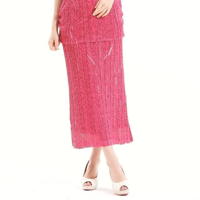 【羽生摺衣】簡單時尚-樹枝紋洞洞裙(共三色)