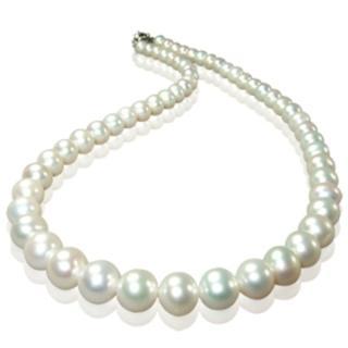 【小樂珠寶】3A頂級天然珍珠項鍊7-7.5mm(白色百搭款)