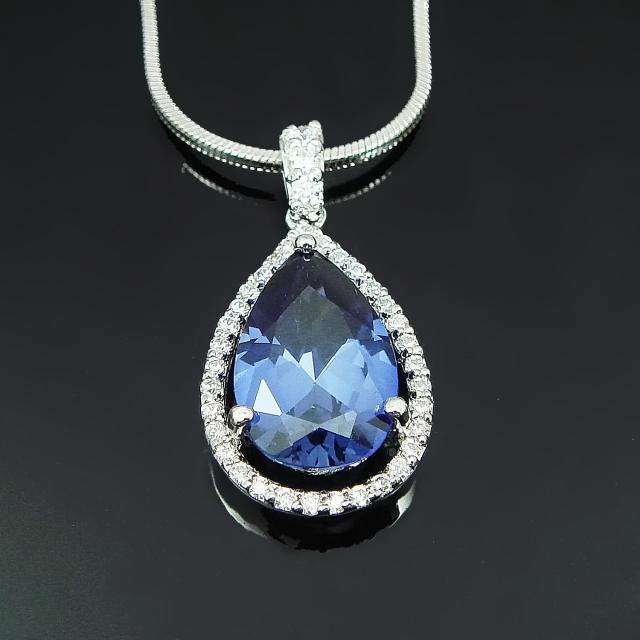 【Celosa珠寶】-情定藍寶墜鍊