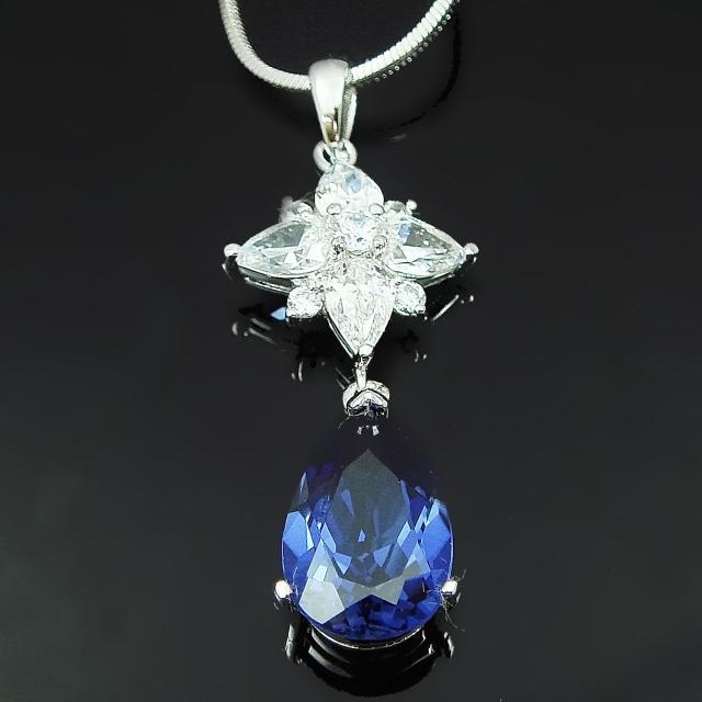 【Celosa珠寶】-星戀藍寶墜鍊