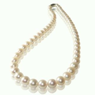 【小樂珠寶】3A頂級AKOYA日本花珠項鍊(白色拌粉色7-7.5mm)