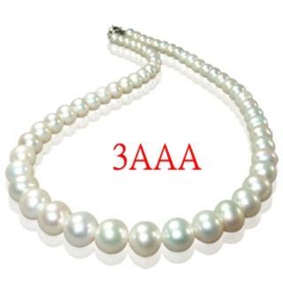 【小樂珠寶】3AAA最高等級天然珍珠項鍊7-7.5mm(白色限量款)