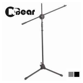 【CNBear】專業級 落地型 直.斜兩用 麥克風架(黑色/銀色)