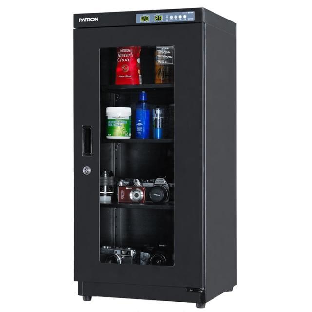 【亞洲數位商城】PATRON 寶藏閣 AH-132 LED溫濕度顯示防潮箱(155L)