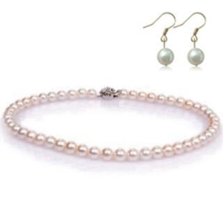 【小樂珠寶】母親節限量-頂級南洋深海貝珍珠套組-媽媽超值款(超美粉色)